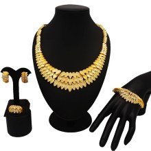 dubai gold jewelry sets women fashion necklace fine African mama