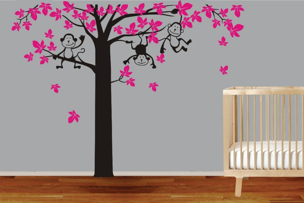 Online get cheap unique nurseries for Cheap wall mural decals