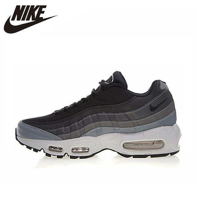 NIKE AIR MAX 95 zapatos esenciales para correr para hombre, gris, absorción de golpes antideslizante transpirable absorbente de sudor 749766 021