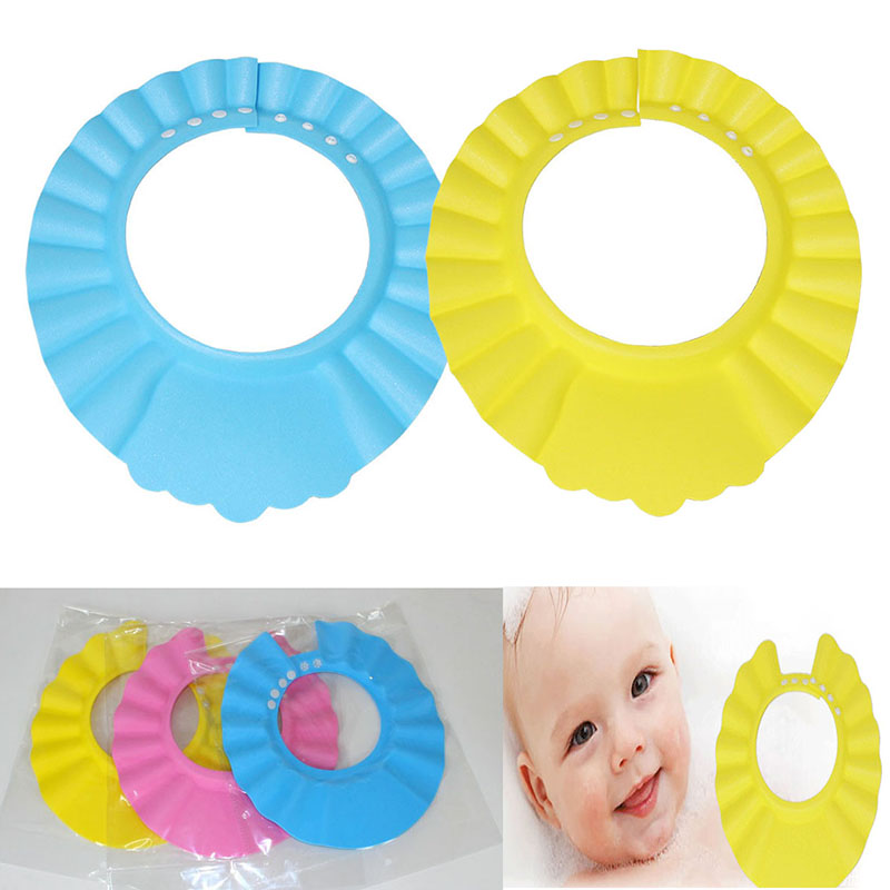 Adjustable Kids Shampoo Hat Thicker Foam Bath Shower Cap Hat Water Wash Hair Shield Baby Bath Product