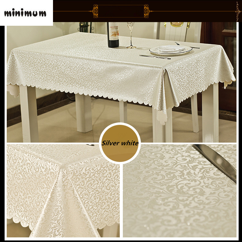 European style table cloth waterproof oil-proof Anti-hot cloth Restaurant coffee mats hotel rectangular tablecloth Seat cover ...