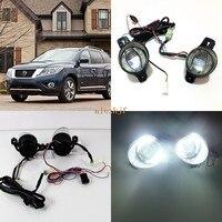 July King 1600LM 24W 6000K LED Light Guide Q5 Lens Fog Lamp+1000LM 14W Day Running Lights DRL Case for Nissan Pathfinder 2013~16