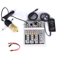 Portable bluetooth Sound Mixing Console Audio Mixer Record Mixing Console 48V Power Effects 7 Channels Audio Mixer with USB