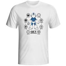 Get Your Mega Man Equipped T-shirt Rockman Megaman Rock Creative Hip Hop T Shirt Skate Style Novelty Women Men Top