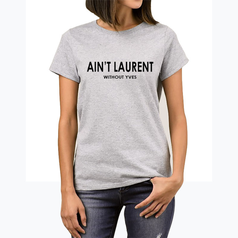 4c5bc72ede1 Female T-shirts Top Harajuku Summe Ant t Laurent Without Yves Plus Size for Women  Tumblr Funny Punk T Shirt Clothes TShirt