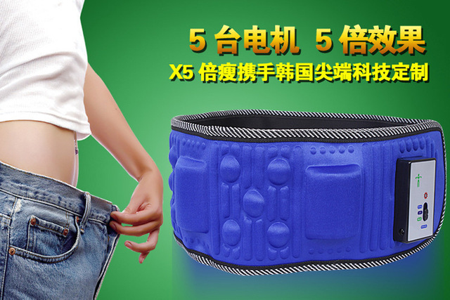hot selling Body massager X5 slimming belt sauna massage belt with 5 motors for weight loss heating function free shipping