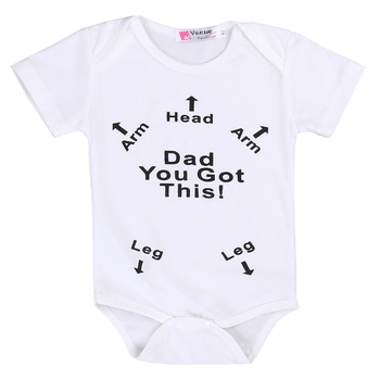 """Dad You Got This!"" Humorous & Helpful Newborn Baby Onsie"