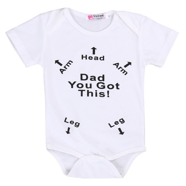 """Dad You Got This!"" Humorous & Helpful Newborn Baby Onsie"