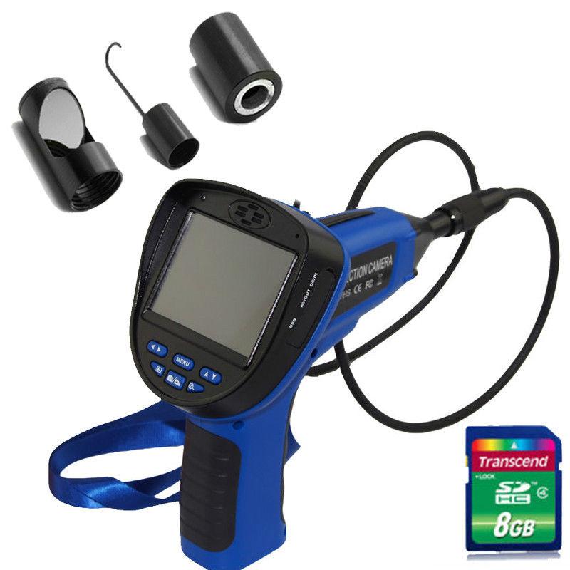 3.5 8.5mm 8G Snake Inspection Endoscope Borescope Camera DVR+Mirror/Hook/Magnet