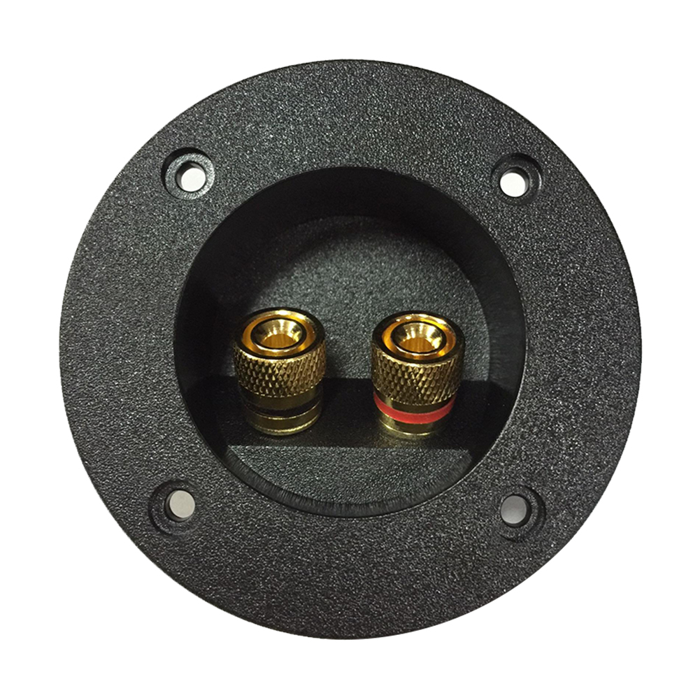 Home Car Box Audio Recessed Cup Connector Terminal Block Plate DIY Speaker Junction Case Connector Round Accessories Spring