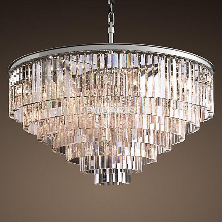 Rétro Vintage lustre en cristal lumière Fxiture cristal verre prisme lustres éclairage
