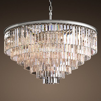 Retro Vintage Crystal Chandelier Light Fxiture Crystal Glass Prism Chandeliers Lighting