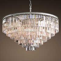 Retro Vintage Crystal Chandelier Light Fxiture Crystal Glass Prism Chandeliers Lighting