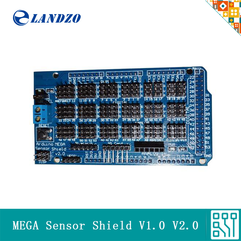 For Arduino MEGA Sensor Shield V1.0 V2.0 Dedicated Expansion Development Board 2560 Sup IIC Bluetooth SD Robot Parts DIY