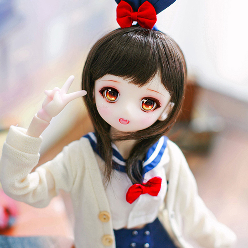 Full Set 1/4 BJD Doll LOVELY Airi Joint Doll For With Glasss Eyes Baby Girl Birthday Christmas Gift Present-in Dolls from Toys & Hobbies    2
