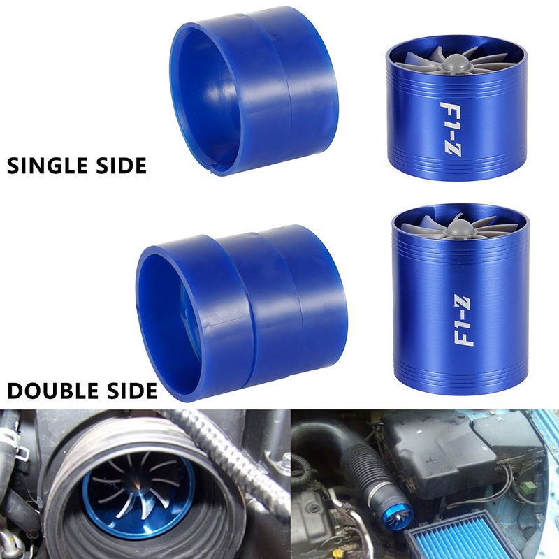 F1-Z Car Single /Double Turbine Turbo Charger Air Filter Intake Fan Fuel  Gas Saver Kit Auto Replacement Part Supercharger