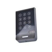 DWE CC RF control karte leser 12 V 13 56 mhz touchscreen tastatur wiegand 34 RFID reader