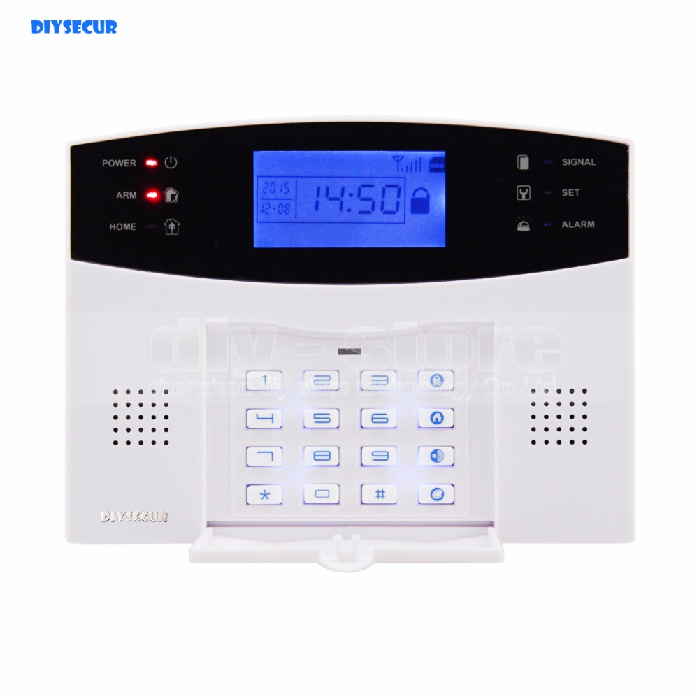 Фотография DIYSECUR 433MHz Wireless Wired GSM/SMS/TEXT/Dial Security Alarm System Auto-Dial Defense Zone for Garage Storage Home Garden