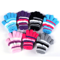 Hot Children's Boys Girls Gloves Kids Soft Striped Winter Mittens Knitting Thick Warm Full Fingers 2016 Girls Accessories Cheap