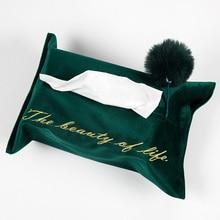 Tassel Tissue Box Обложка домашний Автомобиль отель бумажный держатель ткани домашний кухонный Организатор