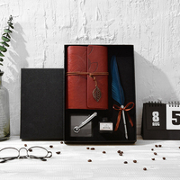 14 Set stile Inglese Calligrafia Piuma Penna di Scrittura Inchiostro Set Set di Cancelleria Squisito regalo di nozze box set penna notepad inchiostro nuovo stile
