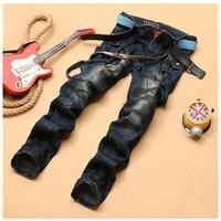 Men Suspenders Denim Jeans Overalls Pants 2015 Fashion Designer Brand Big Pocket Jeans Hip Hop Slim