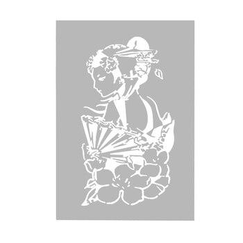 OPHIR A4 Crânio Airbrush Reutilizáveis Stencil para Pintura Corporal Glitter Tattoo Temporária Template _ STE005A
