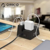 ORICO ODC 2A5U 40W 5 USB Charging Ports Power Strip and 2 AC Outlets Surge Protector With 1.5M Power Cord