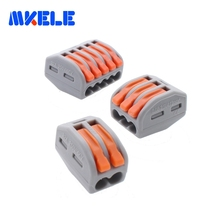(60 PCS )Wago type PCT-212 213 215 20pcs 2P + 3P 5P Universal Compact Wire Connector Conductor Terminal Block