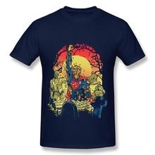 Geek Short Sleeve Super Zombie man t shirt Cheap Sale 100 % Cotton tee shirts for men's
