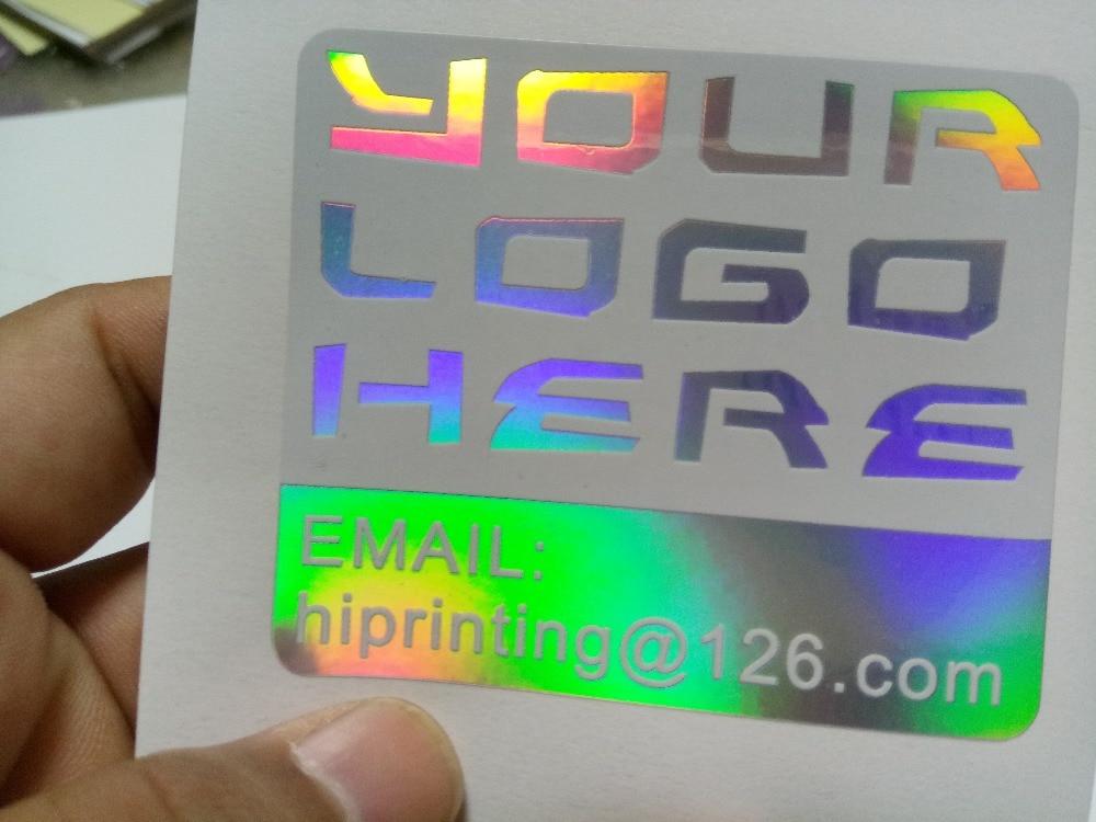 Custom made hologram sticker printed cartoon name labels