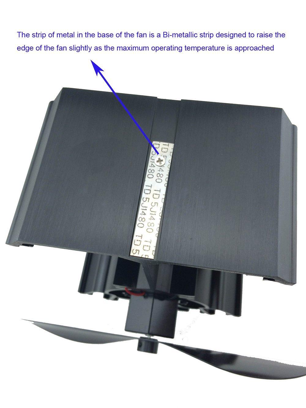 online shop 4 blades heat powered stove fan black 19 fuel
