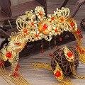Tocado de la novia de la boda traje Chino ropa traje espectáculo retro adornos de pelo accesorios de la boda vestido de dragón wo