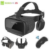 Original BOBOVR Z5 VR Glasses 3D Virtual Reality Cardboard Helmet Box for Iphone Android Smartphone with vr Remote Controller