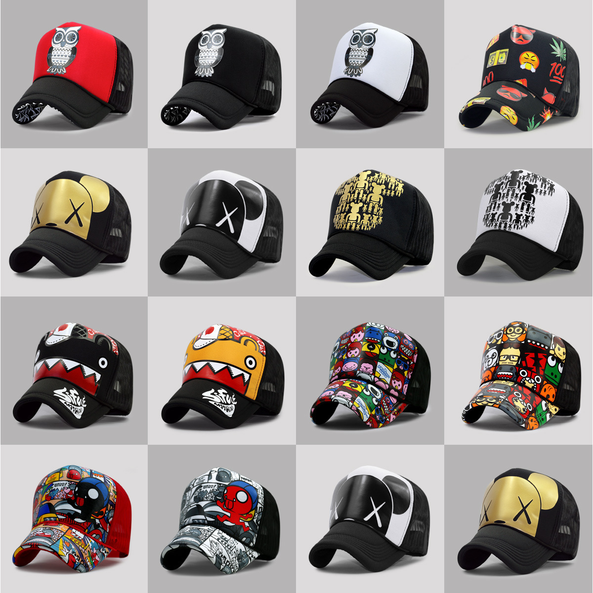 Wholesale Adult Summer Sun Hats Men Cool Hiphop Punk Rock Truck   Cap   Women Fashion Mesh   Baseball     Caps