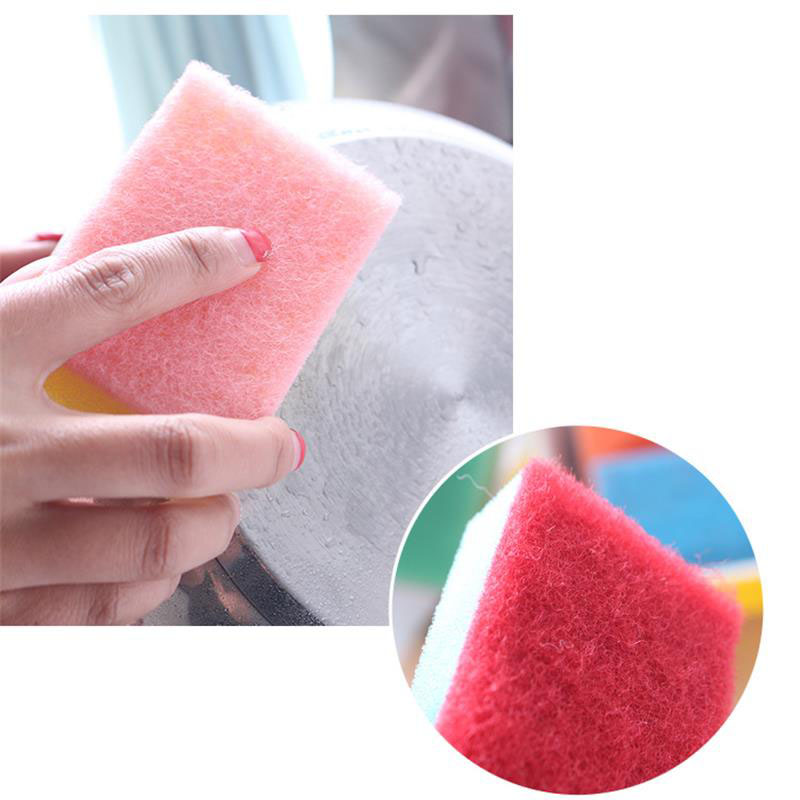 Image 3 - 10Pcs Candy colored Decontamination Powerful Colorful Nano Cleaning Magic Sponge Multipurpose Goods Random Color-in Sponges & Scouring Pads from Home & Garden