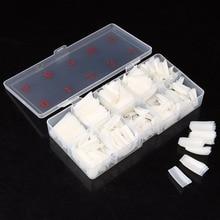 500pcs / box Nail Tips Half Cover Fake Nails Nail Art Artificial Acrylic Gel UV Manicure Set DIY Clear / Natural / Pure White