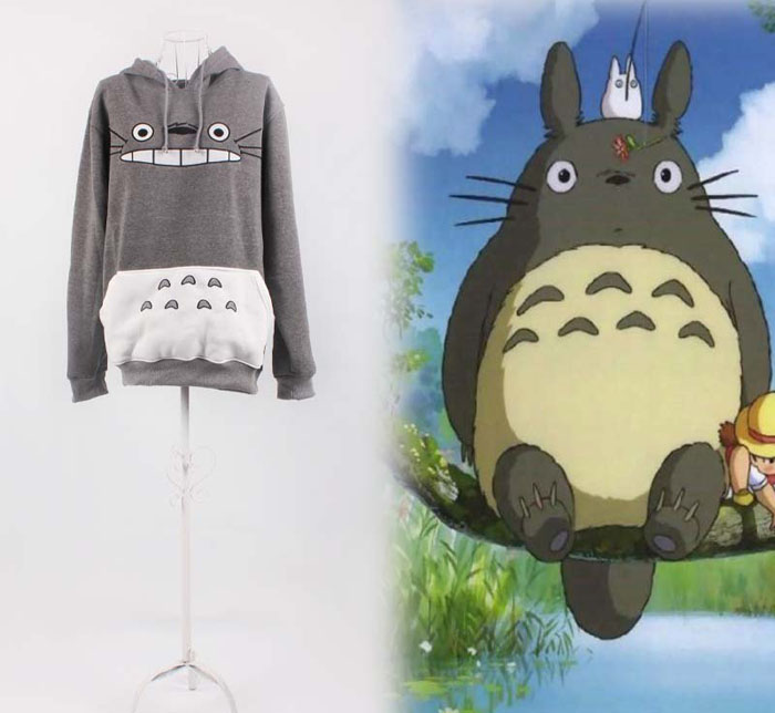 Japanese Anime My Neighbor Totoro Hoodie Cosplay Costume Spring Autumn Unisex Fleeces Pullover Hooded Hoodie