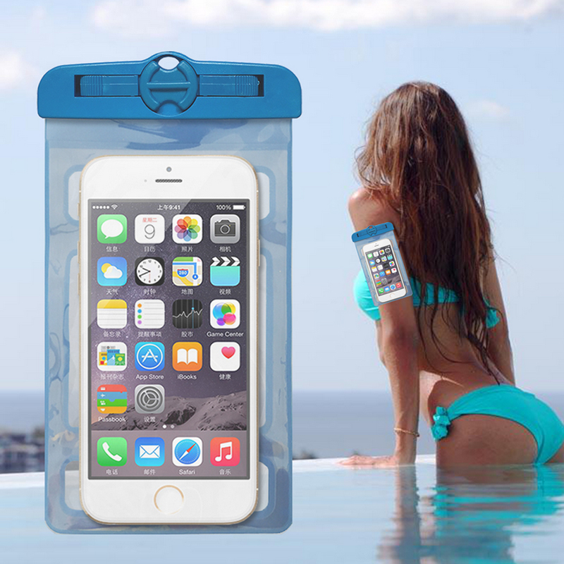 New Diving Drifting Fishing Camping Dampproof Tools Waterproof Mobile Phone Bags Swimming Underwater Photo Dry Pouch 05