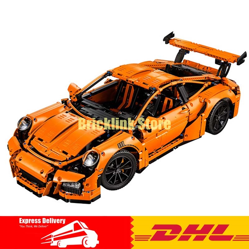 Lepin 20001 Technic Series Super Race Car Model Building Kits Bricks Blocks Educational Toys Compatible 42056 for Children Gift