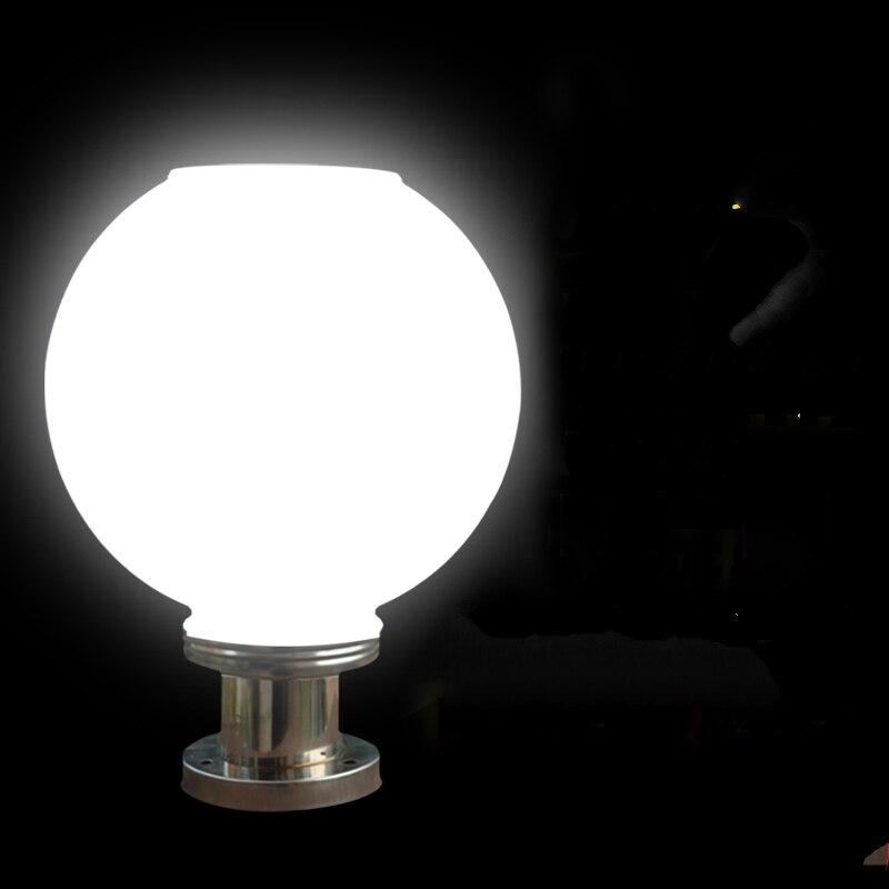 LED Solar Pillar Spherical Pillar Lights Waterproof Outdoor Garden Super Bright Road Wall Lamp Headlights District lighting