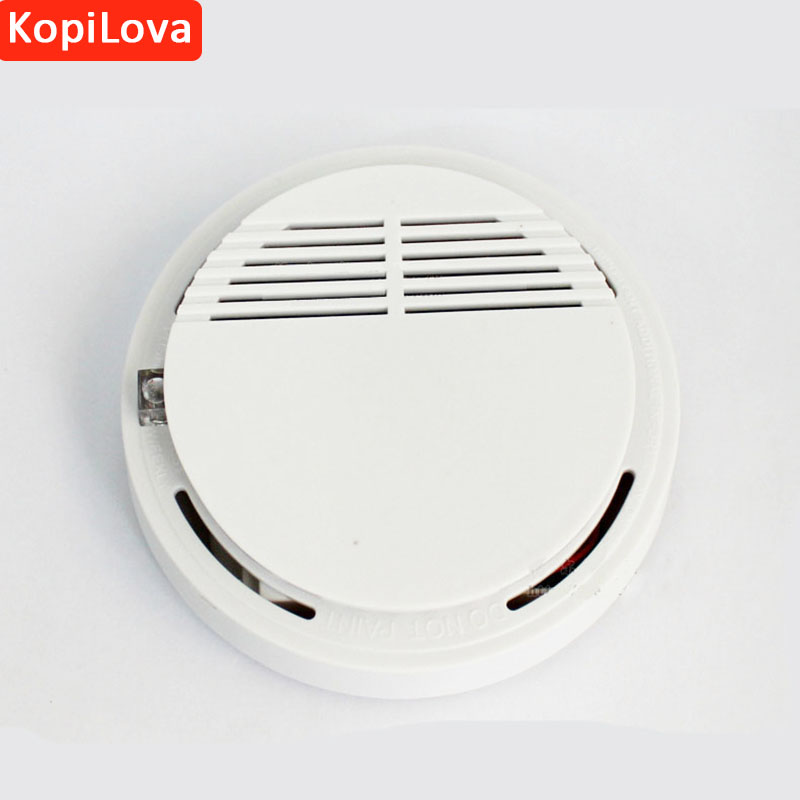 2pcs Standalone Photoelectric Smoke Alarm Fire Protection Sensitivity Smoke Detector Fire Sensor Home Security System for Kitch wireless smoke fire detector for wireless for touch keypad panel wifi gsm home security burglar voice alarm system