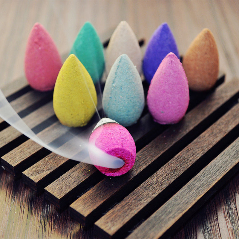 50Pcs/Bag Floral Incense Cone Fragrance Scent Tower Incense Mixed Scent Aromatherapy Fresh Air Aroma Spice Antiperspirants