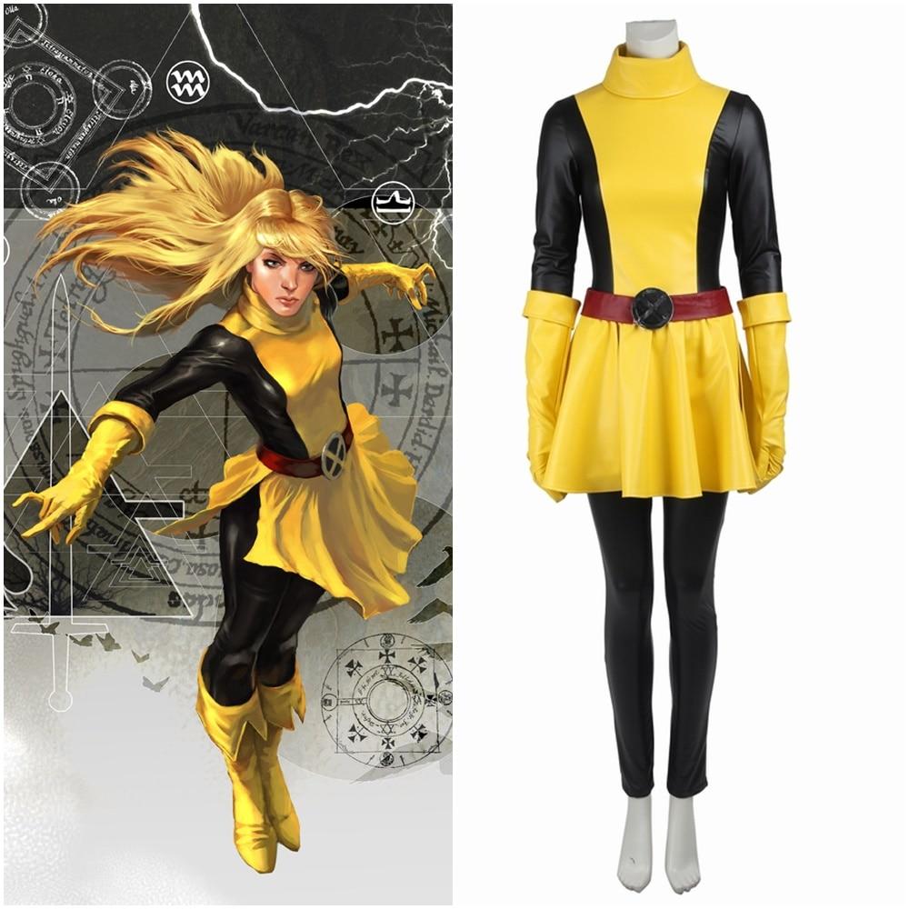 Comics X-Men Magik Illyana Rasputine Cosplay Costume Halloween Outfit