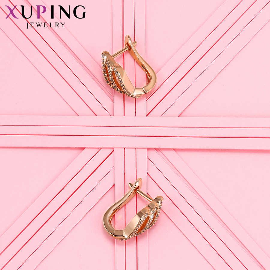 Xuping mode boucles d'oreilles de haute qualité Style européen conception de charme couleur or Rose plaqué bijoux saint valentin cadeau S17-90045