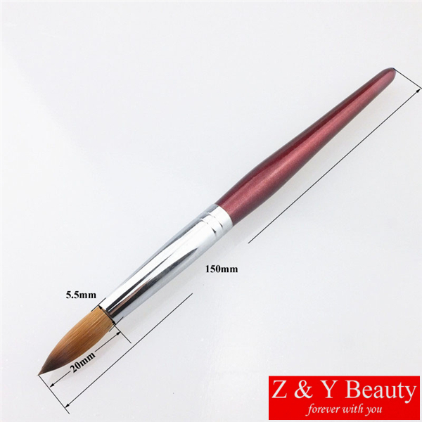 Hot Sale! Factory Direct,Size 08,Kolinsky Acrylic Nail,Wooden Handle,Free Shipping