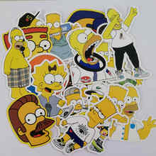 25pcs/Lot Anime The Simpsons Brand Graffiti Stickers For Luggage Suitcase Skateboard Pegatinas Adesivi Stickers Waterproof Cool(China)