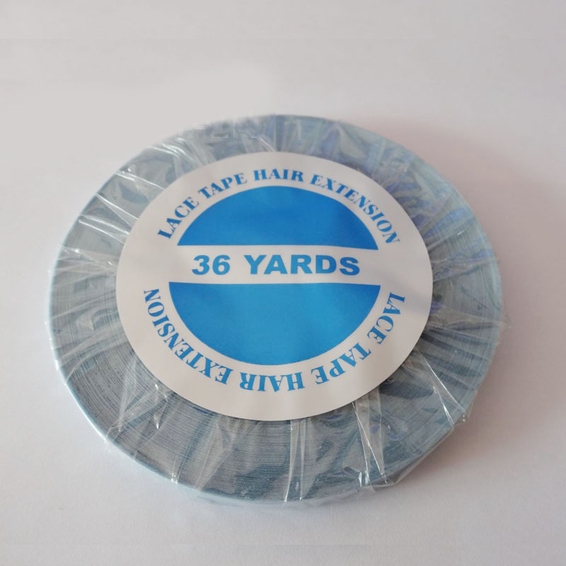 1cmx 36 yards long time water proof tape Super quality blue tape hair extension tape hair