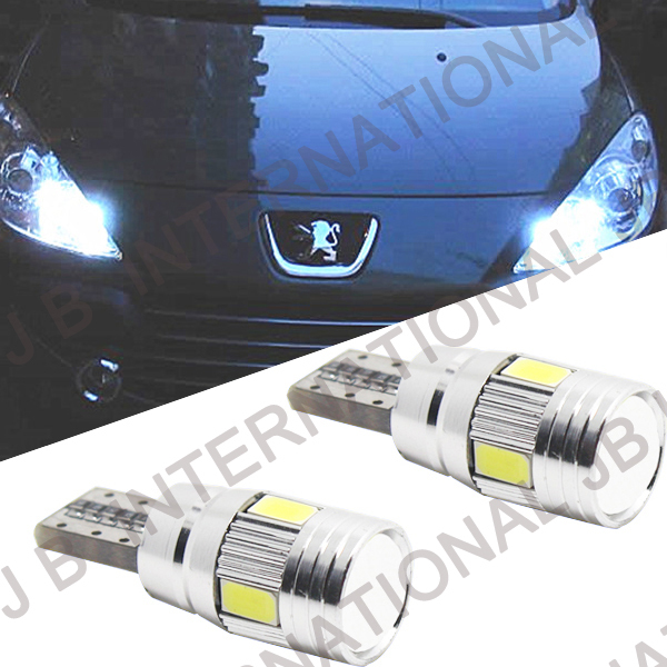 2pcsx 6SMD-LED Side-light bar for Peugeot  306 307 308 405,Error Free LED Wedge Bulbs For European Car Parking Eyelid Lights peugeot 307 1 6 hdi