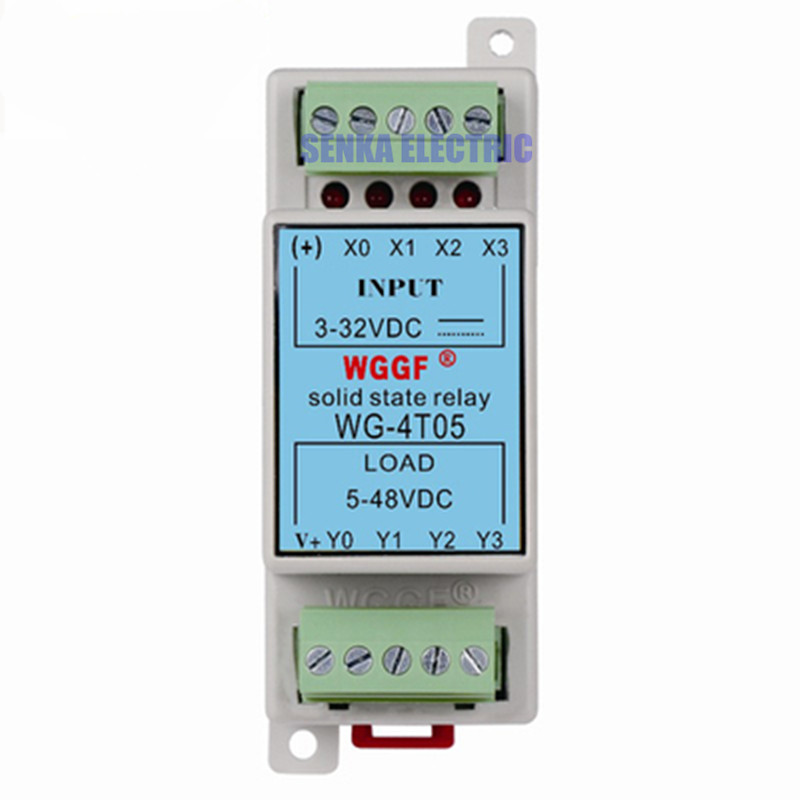 Din Guide 4Loop 5A SSR Compact Solid State Relay with Heat Sink normally open single phase solid state relay ssr mgr 1 d48120 120a control dc ac 24 480v